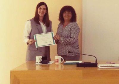 Primer premio científico. Colegio de Trabajo social Cádiz.