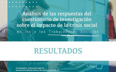Resultados del cuestionario sobre el impacto de la crisis social en los y las Trabajadoras Sociales